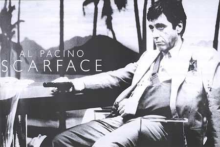Scarface Palms B/W